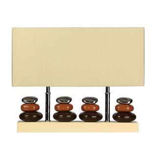 Cortesi Home Quadro 2-light Earth Tones Table Lamp