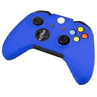 INSTEN Blue Soft Silicone Skin Phone Case Cover for Microsoft Xbox One/ Xbox One S Controller