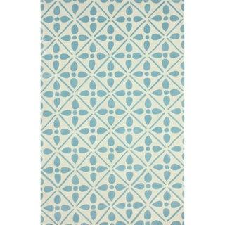 nuLOOM Handmade Modern Lattice Trellis Aqua Rug (5' x 8')