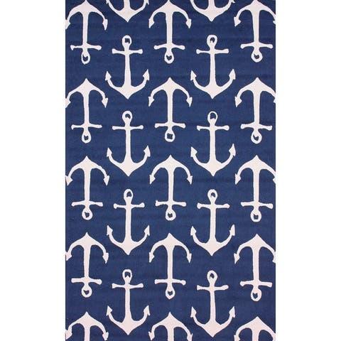 nuLOOM Indoor/ Outdoor Novelty Nautical Anchors Area Rug