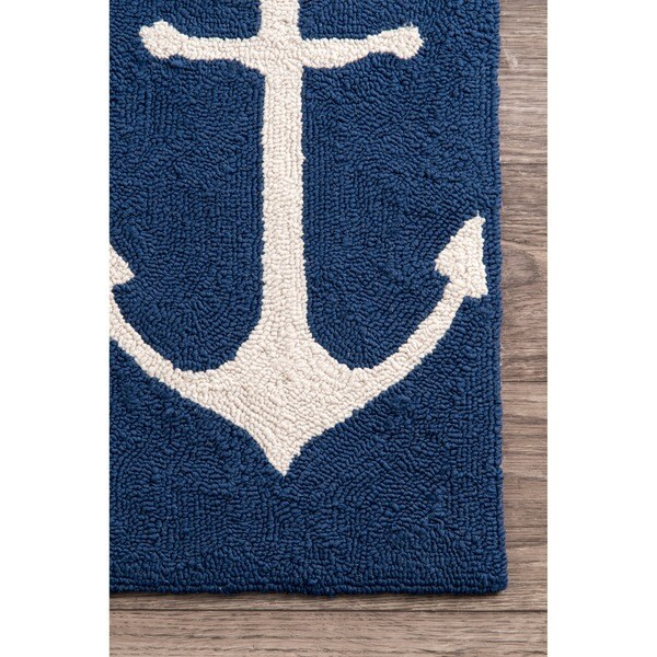 Captivating NuLOOM Indoor/ Outdoor Novelty Nautical Anchors Area Rug (8u0027 X 10u0027)   Free  Shipping Today   Overstock.com   15786053