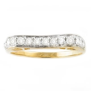 Beverly Hills Charm 14k Yellow Gold 3/8ct TDW Concave Diamond Band Ring (H-I, I2-I3)