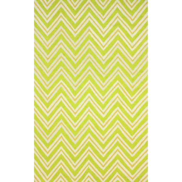 nuLOOM Hand-hooked Modern Chevron Green Rug (5' x 8') - 5' x 8'