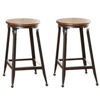 Copper Grove Acanthus 24-inch Counter-height Stool (Set of 2)