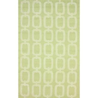 nuLOOM Handmade Indoor/ Outdoor Chain Links Green Rug (5' x 8')