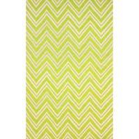nuLOOM Hand-hooked Modern Chevron Green Rug (7'6 x 9'6) - 7'6 x 9'6