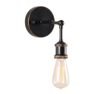 Miserite 1-light Antique Black Gold/ Copper Wall Lamp