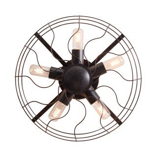 'Simonite' Rust Black Metal Modern Wall Lamp