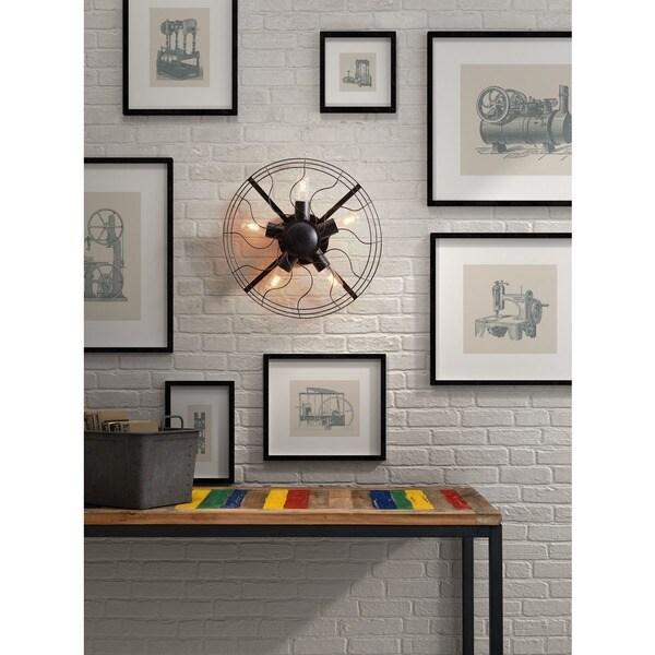 'Simonite' Rust Black Metal Modern Wall Lamp