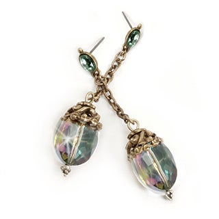 Sweet Romance Oval Crystal Swing Earrings