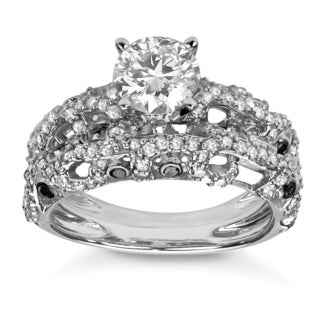10k White Gold 2ct TDW Diamond Bridal Ring Set