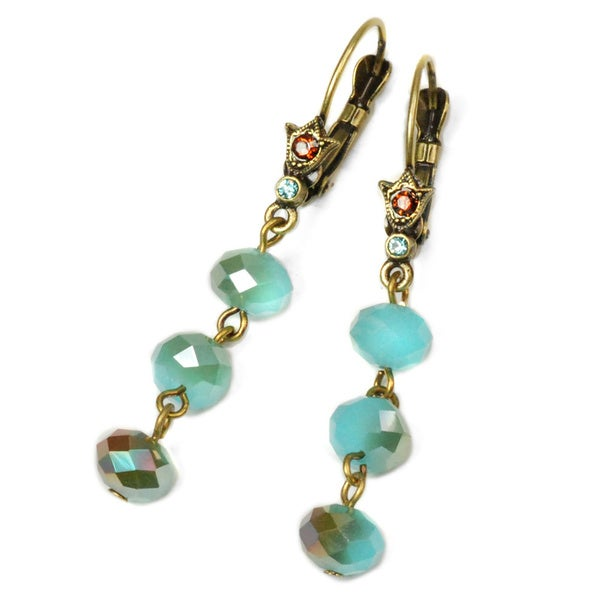 Sweet Romance Crystal Bead Dangle Earrings