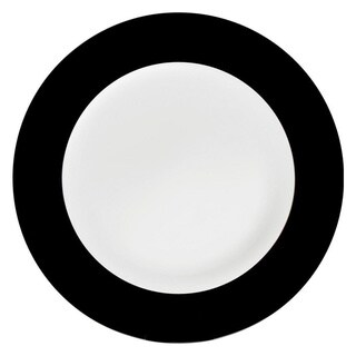 Konitz Black China Salad & Dessert Plates (Set of 2)