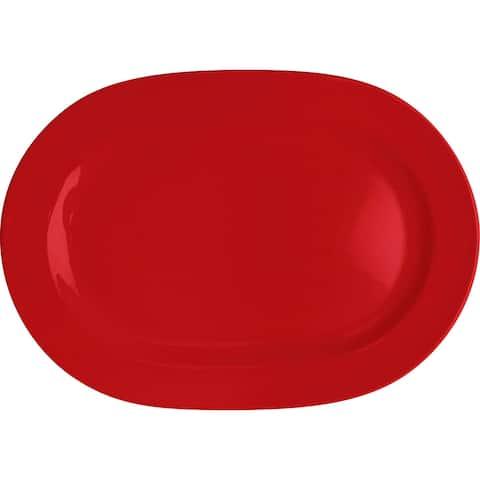 Waechtersbach Fun Factory Red Oval Platters (Set of 2)