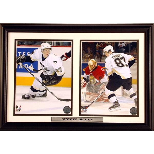 12X18 Sidney Crosby Pittsburgh Penguins Custom Double Print Frame