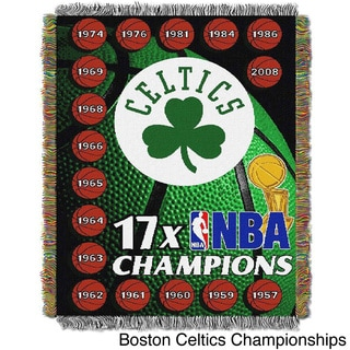 NBA Boston Celtics Woven Tapestry Throw