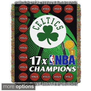 NBA Boston Celtics Woven Tapestry Throw