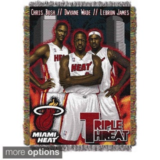 NBA Miami Heat Woven Tapestry Throw