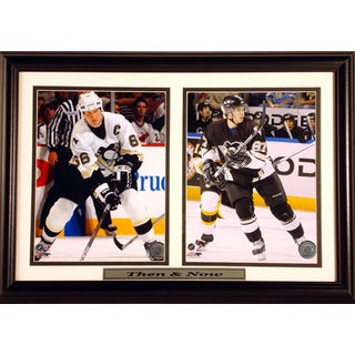 12X18 Then & Now Pittsburgh Penguins Custom Double Print Frame