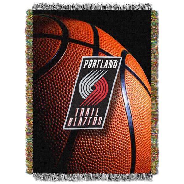 NBA Portland Trail Blazers Photo Real Woven Tapestry Throw