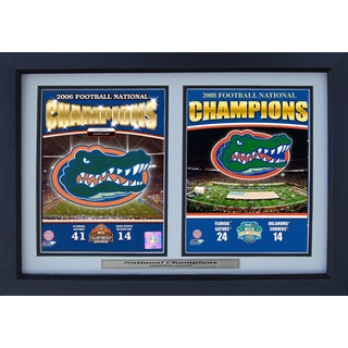 Florida Gators 2006 and 2008 Champions 12x18 Deluxe Photograph Frame