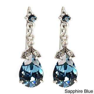 Sweet Romance Swarovski Element Crystal Pear Earrings (More options available)