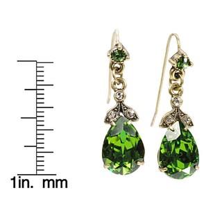 Sweet Romance Swarovski Crystal Pear Earrings