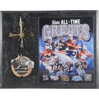All Time Greats New England Patriots Clock