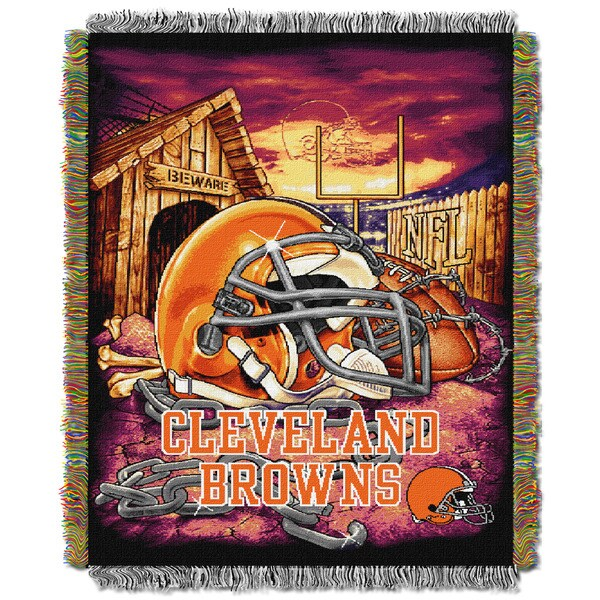 NFL Cleveland Browns Woven Tapestry Throw