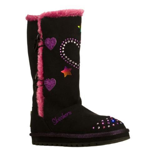 Girls' Skechers Twinkle Toes Keepsakes Heart Sparkler Black/Purple