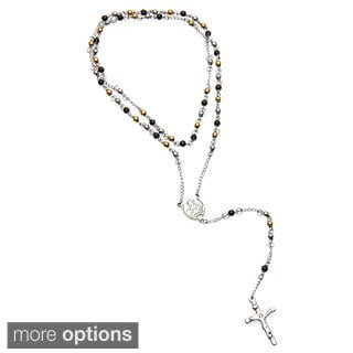 Eternally Haute Stainless Steel 4mm Rosary Necklace