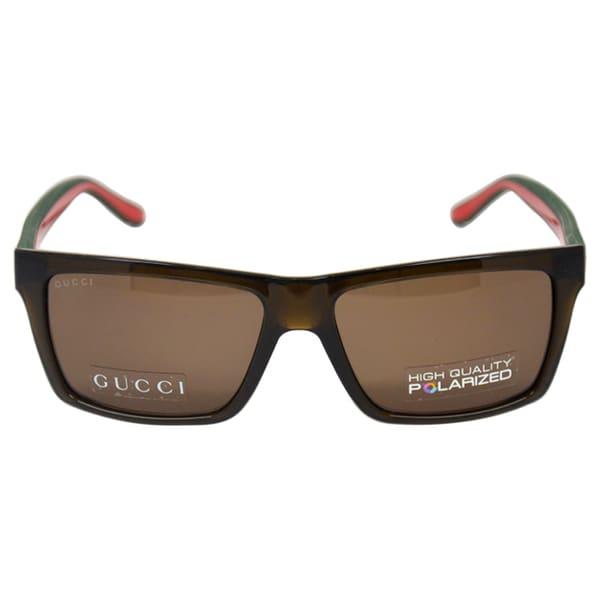 d4fc0591ce6 Shop Gucci Unisex  GG 1013 S 053U  Brown Polarized Sunglasses ...