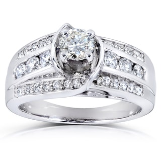 Annello by Kobelli 14k White Gold 7/8ct TDW Diamond Engagement Ring