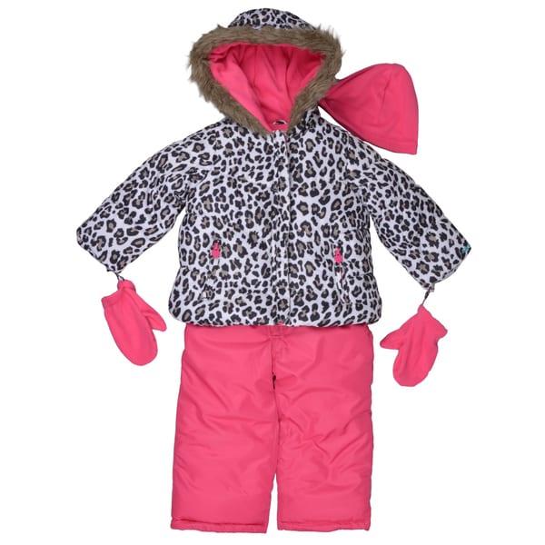 97253e4fb Shop Carter's Girl's Hooded Faux Fur Trim Snow Suit Set - Free ...