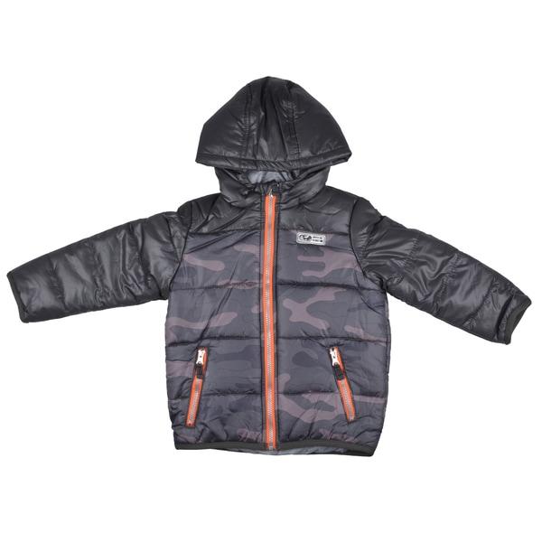 Osh Kosh Boy's Hooded Camo Print Bubble Jacket