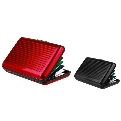 Zodaca Red/ Black Aluminum Business Card Phone Case Cover