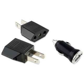 INSTEN Travel Charger EU to US Adapter/ USB Mini Car Charger Adapter