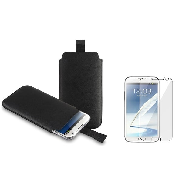 INSTEN Pouch/ Anti-glare Protector for Samsung Galaxy Note II N7100