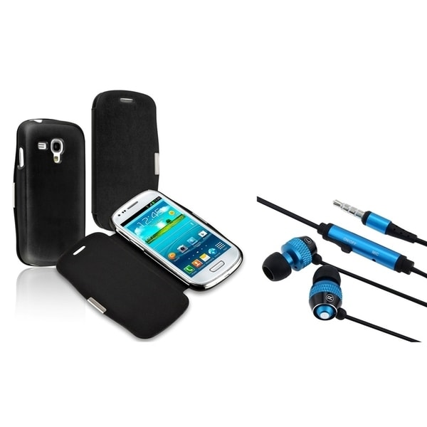 INSTEN Headset/ Leather Phone Case Cover for Samsung Galaxy S III Mini I8190