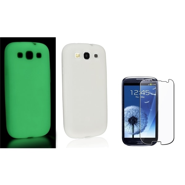 BasAcc Silicone Case/ Screen Protector for Samsung Galaxy S III/ S3