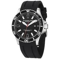 Stuhrling Original Men's Regatta Bracera Japanese Quartz Strap Strap Watch - Black