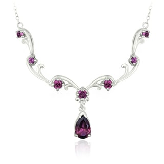 Link to Glitzy Rocks Sterling Silver Rhodolite Necklace Similar Items in Necklaces