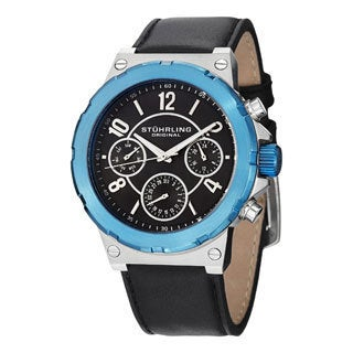 Stuhrling Original Men's Sirocco Quartz (MM0901) Strap Strap Watch