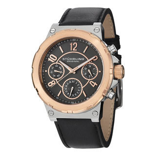 Stuhrling Original Men's Sirocco Water-resistant (MM0901) Leather-strap Quartz Watch
