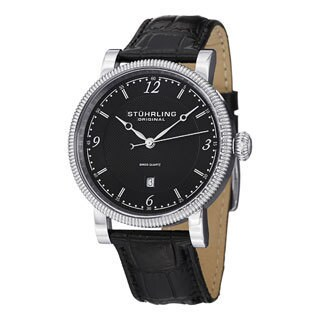 Stuhrling Original Men's Parliament Swiss Quartz Casual Strap Watch