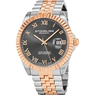 Stuhrling Original Men's Coronet Swiss Quartz Bracelet Bracelet Watch