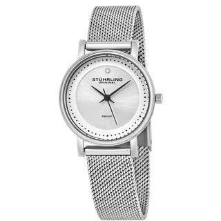 Stuhrling Original Women's Lady Casatorra Elite Diamond Swiss Quartz Bracelet Watch