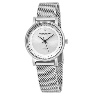 Stuhrling Original Women's Lady Casatorra Elite Diamond Swiss Quartz Bracelet Watch (4 options available)