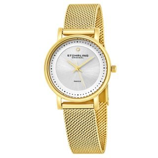 Stuhrling Original Women's Lady Casatorra Elite Diamond Swiss Quartz Bracelet Watch (4 options available)