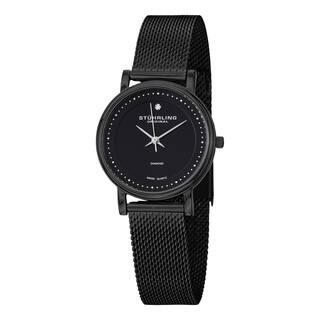 Stuhrling Original Women's Lady Casatorra Elite Diamond Black Swiss Quartz Bracelet Watch|https://ak1.ostkcdn.com/images/products/8502911/P15788071.jpg?impolicy=medium